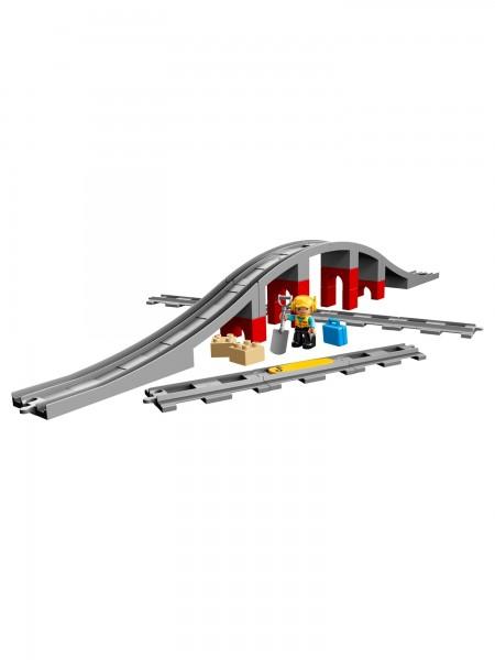 Lego - Eisenbahnbrücke und Schienen