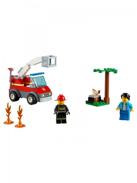 Lego - Feuerwehr beim Grillfest