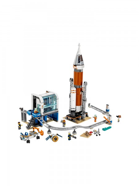 Lego - Weltraumrakete mit Kontrollturm