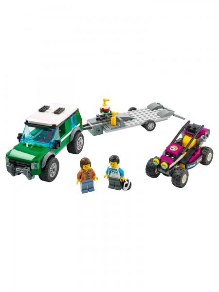 City - Lego - Rennbuggy-Transporter