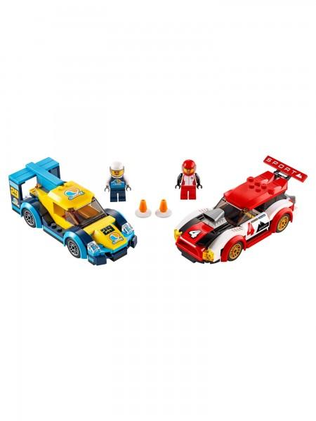 City - Lego - Rennwagen-Duell