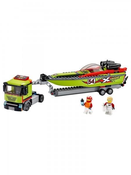 City - Lego - Rennboot-Transporter