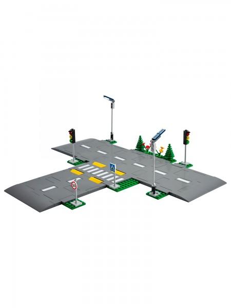 City - Lego - Strassenkreuzung mit Ampeln